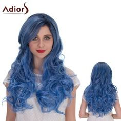 SHARE & Get it FREE | Adiors Hair Mixed Color Long Side Bang Wavy Cosplay Synthetic WigFor Fashion Lovers only:80,000+ Items • FREE SHIPPING Join Twinkledeals: Get YOUR $50 NOW!