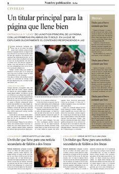 Plantilla para página de periódico, formato InDesign, con información principal + columna de breves + 2 noticias en el faldón