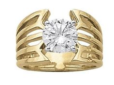 Unique yellow gold solitaire diamond engagement ring.  Overnight 80363 #seneedhamjewelers #loganutah
