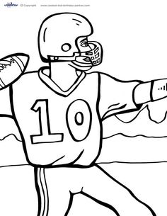 printable football coloring page 3 coolest free printables - Free Printable Football Coloring Pages