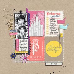 princess digital scrapbook layout created by amandaresende featuring Project Mouse (Princess Edition) by Sahlin Studio and Britt-ish Designs