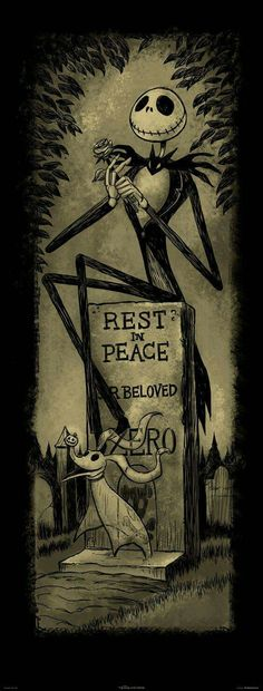 Jack & Zero Jack Skellington El Extraño Mundo de Jack The Nightmare Before Christmas Disney Disney Halloween