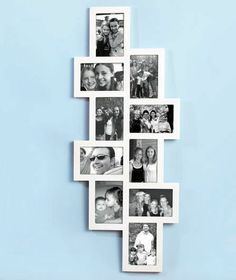 """White Wooden Horizontal Verticle 10 - 4"""" x 6"""" Photo Collage Frame Room Decor"""