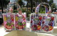 Looks like a great way to recycle all these juice bags!