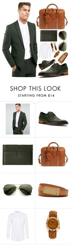 """""""✔️olive green and beige✔️"""" by sanela-enter ❤ liked on Polyvore featuring ASOS, Hardy, Tumi, Polo Ralph Lauren, ZeroUV, Robert Graham, Topman, March LA.B, Banana Republic and men's fashion"""