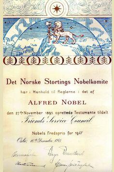 (1947) Nobel scroll