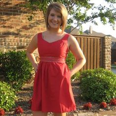 Super cute red poplin dress with a bow in the back (click the link for more pics).
