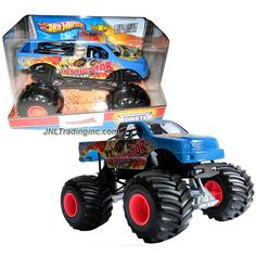 """Hot Wheels Year 2013 Monster Jam 1:24 Scale Die Cast Official Monster Truck Series - INSTIGATOR (X9027) with Monster Tires, Working Suspension and 4 Wheel Steering (Dimension - 7"""" L x 5-1/2"""" W x 4-1/2"""" H)"""