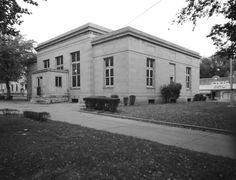 Webb City post office, rear view