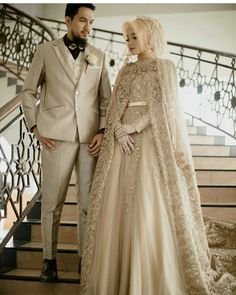 366 Likes, 3 Comments – Muslim wedding idea (Ins Likes, 3 Comm… Muslim Wedding Gown, Muslimah Wedding Dress, Muslim Wedding Dresses, Muslim Brides, Wedding Hijab, Muslim Dress, Wedding Attire, Bridal Dresses, Wedding Gowns