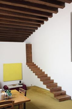 master of colour : architecture : luis barragan : mexico Interior Stairs, Interior And Exterior, Architecture Details, Interior Architecture, Colour Architecture, Stair Art, Home Design, Interior Design, Escalier Design