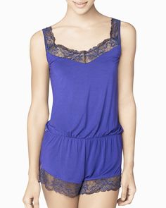 Cross Dyed Lace Romper - IntiMint
