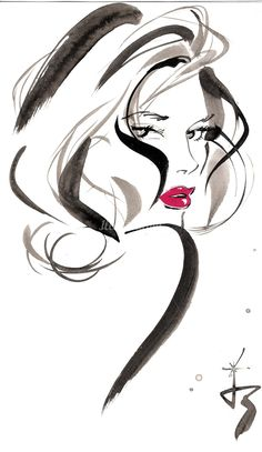 Fashion Illustration Ideas Jacqueline Bissett Illustration Portfolio – Hand Drawing Fashion Illustrator and Artist Illustration Sketches, Art Sketches, Art Drawings, Drawing Faces, Lady Drawing, Dress Sketches, Cartoon Drawings, Jacqueline Bissett, Fashion Sketches