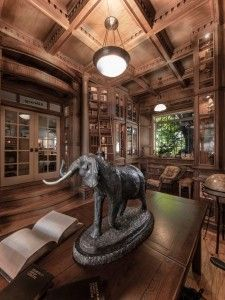 Home Library - Steampunk Daily Steampunk Shop, Steampunk Accessoires, Library Room, Dream Library, Library Ideas, Beautiful Library, Library Design, Steampunk Architecture, Diy 2019