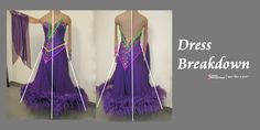 Dress Breakdown: a competition Dancesport ballgown - Sew Like A Pro™ Make Your Own Dress, Ballroom Dance, Skating, Ball Gowns, Competition, Formal Dresses, Sew, Training, Country