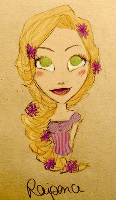 deviantart rapunzel | Rapunzel by epsilonya