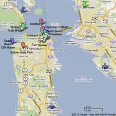 San Francisco Vacation Planner: What's Where