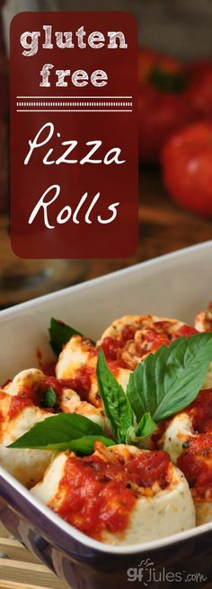 Gluten Free Pizza Rolls are the perfect proportion of sauce∕toppings : crust and are great for lunchbox thermoses, too! gluten-free and dairy-free, easily made vegan |gfJules
