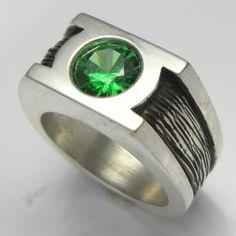 someone makes gl engagement rings mjg silver green lantern ring wedding band - Green Lantern Wedding Ring