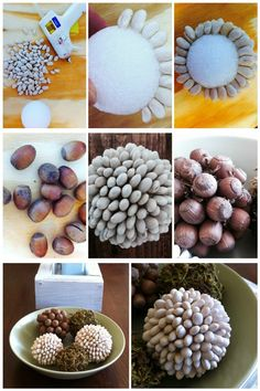 DIY Nature Inspired Decorative Balls