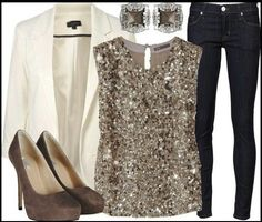 2ae0b62bf0a A fashion look from October 2012 featuring sequin top