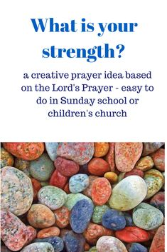 What is your strength? - This creative prayer idea allows children to engage with the theme of God's strength in a fun way. - Themes: Our Father prayer, Lord's prayer, God's power and glory - To be used for: children's moment during a service, creative prayer moment, prayer room, Sunday school lesson, kids work, children's church, kids ministry, children's ministry, kidmin, youthwork, - Bible text: 'For thine is the kingdom, and the power, and the glory, for ever and ever.' (Matt 6:13)