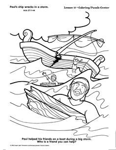 Coloring Is Pages Paul Shipwrecked 2020 Bible Story Crafts