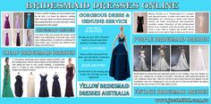 Visit this site http://www.jecabridal.com.au/ for more information on Bridesmaid Dresses Online. Getting the perfect Bridesmaid Dresses Online can get onto your nerves and can cost a fortune at retail outlets. Online shopping of Bridesmaid dresses and other wedding attires is then worth going for and that too for the designer bridesmaid dresses, just suiting to every ones liking, extremely alluring with traditional yet trendy designs and priced just to suit your budget.