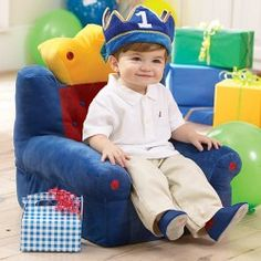 Your Young Prince Deserves a Throne! Toddler Plush Kingdom Chair.