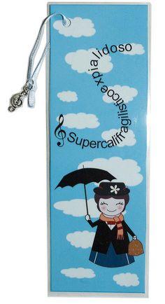 Bookmark kokeshi Mary Poppins