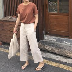 21 Trendy How To Wear Trousers Women - Outfit - Korea Fashion, Asian Fashion, Look Fashion, Trendy Fashion, Fashion Outfits, Trendy Style, Dress Fashion, Simple Style, Fashion Women