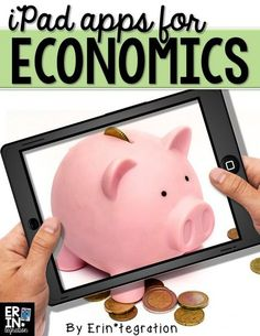 iPad apps for teaching economics in the elementary classroom. Includes a free student record sheet and spending reflection questions at the link. Integrate iPads into social studies! Economics For Kids, Teaching Economics, Apps For Teaching, Economics Lessons, Teaching Reading, Teaching Resources, Learn Economics, School Lessons, Teaching Tools