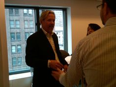 New MediaVest CEO Brian Terkelsen at a meet and greet to get to know everyone better!