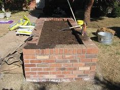 nothing like a new raised bed to get you off to a good start this spring. We just finished these beautiful brick raised beds for fri. Vegetable Bed, Raised Vegetable Gardens, Home Vegetable Garden, Raised Bed Frame, Raised Flower Beds, Raised Beds, Brick Garden, Lawn And Garden, Brick Flower Bed