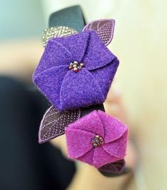 Felt flowers, perfect for your hair, accessories, garland etc!