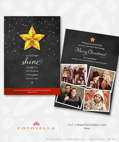 Photoshop Templates for Photographers — Christian Christmas Card Template Chalkboard Design by FOTOVELLA — with images courtesy of Kate Moss @ peekaboophotos.com