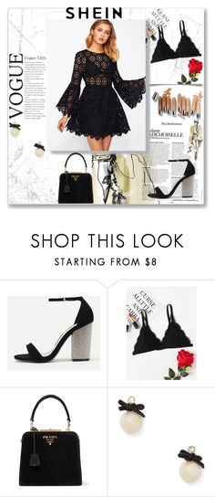 """""""Black"""" by musicajla ❤ liked on Polyvore featuring Prada, Olsen and Kate Spade"""