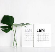 Printable Minimal Calendar 2018