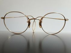 Rare vintage American Optical gold panto eyeglasses wire frame cable temples 20s #Ao #Round #Everyday