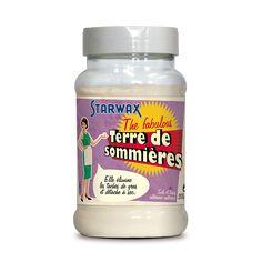Terre de Sommières - Absorbe les taches de gras - Détache les textiles délicats - Neutralise les odeurs ...