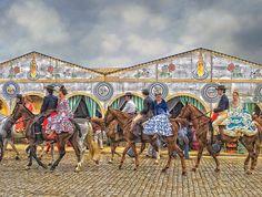 Feria de Abril de Sevilla - Caballista con amazonas a la grupa | Flickr - Photo Sharing!