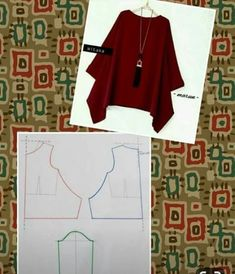 V neck tunic blouse pattern order by line with @ dresspattern modellistepattern poladress jualpola jasapola polaonline jasapolaonline polaonlineshop polabaju jualpoladress jasapembuatanpola poladress polacelana polatunik polabajutunik tunicblouV neck Dress Sewing Patterns, Blouse Patterns, Clothing Patterns, Fashion Sewing, Diy Fashion, Cheap Fashion, Costura Fashion, Sewing Blouses, Diy Vetement