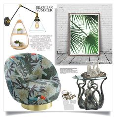 """Brazilian Summer"" by ildiko-olsa ❤ liked on Polyvore featuring interior, interiors, interior design, home, home decor and interior decorating"
