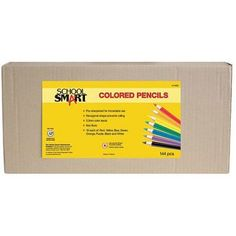 School Smart Colored Pencils, 7 inch, Assorted Colors, Pack of 144