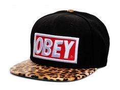 i know andrew doesn't like chicks with hats but i really dig the leopard print with the obey logo.
