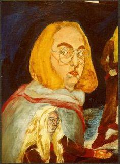 dana wodak -self portrait'oil on canvas 80\60cm דנה וודק