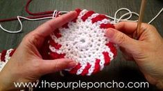DIY Crochet Tutorial - Chain Loop Edging by The Purple Poncho