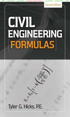 Download Civil Engineering Formulas by Tyler G. Hicks [PDF] | Civil Engineering Blog >>> Click here to download >>> http://www.iamcivilengineer.com/2014/09/download-civil-engineering-formulas-by.html