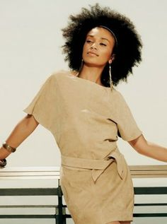 Natural hair inspiration, South African TV personality Pearl Thusi