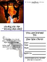 Free #Printable #Child's #Star #Wars Party #invitations